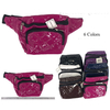 VINYL FANNY PACKS WITH DESIGN STITCH LOOK ASSORTED COLORS