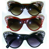 CAT SHAPE LARGE FRAMES WITH GEMS LOOK IN CORNERS