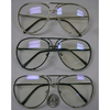 CLEAR LENS AVIATORS SUNGLASSES, MORE DELUXE WITH CENTER