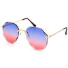 EDGE LENS CUT FRAMELESS SUNGLASSES WITH OCEAN LENSES