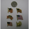 FLAG ENAMEL LAPEL PINS, METAL BACKINGS