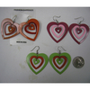 HEART SHAPE EARRINGS 3 PIECES IN 2 COLORS