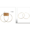 GOLD HOOP EARRINGS 3 INCH (75MM) DIAMETER