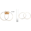 GOLD HOOP EARRINGS 3.5 INCH (90MM) DIAMETER
