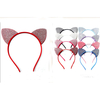 CAT SHAPE EARS HEADBAND ASSORTED COLORS WITH SMALL GEMS