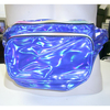 BLUE IRIDESCENT 3 ZIPPER FANNY PACK