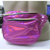 FANNY PACK IRIDESCENT PINK, 3 ZIPPERS, LIITED STOCK.