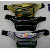 IRIDESCENT COLORS FANNY PACKS, 6 SILVER, 3 GOLD, 3 BLACK