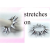 SILVER LARGE SPIKE BRACELET, STRETCHES ON, VERY GOOD QUALITY