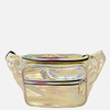 GOLD IRIDESCENT FANNY PACKS,  3 ZIPPERS