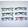 CLEAR LENS SMALL FUNKY SHAPE FRAMES IN ASSORTED COLORS.