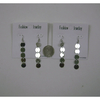 SILVER COLOR SMALL DISKS HANGING DOWN EARRING