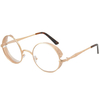 CLEAR LENS METAL FRAME, STEAMPUNK LOOK GLASSES