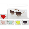 HEART SHAPE METAL FRAMES SUNGLASSES, ASSORTED COLOR LENSES