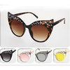 STARS ON A CAT SHAPE LARGE FRAME SUNGLASSES