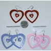 HEART SHAPE HEART IN HEART EARRINGS IN 3 COLORS