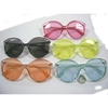 COLORFUL LARGE FRAMES SUNGLASSES, ARMS SAME COLOR AS LENS