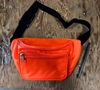 NEON ORANGE 2 ZIPPER FANNY PACK