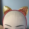 CAT EARS HEADBAND METALIC RIPPLES