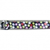 POKA DOTS BLACK FABRIC BELT