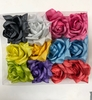 FABRIC ROSE HAIR CLIP ASSORTED COLORS
