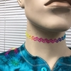 RAINBOW COLORS FISHLINE CHOKER STRETCH NECKLACE
