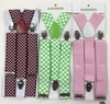 CHECKERBOARD WIDE SUSPENDERS, 3 DIFFERENT COMBOS