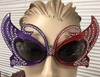 RED/PURPLE  LARGE BUTTERFLY LOOK SUNGLASSES WITH FAUX GEM LOOK