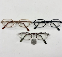 CLEAR LENS METAL FRAMES, SPRING TEMPLE QUALITY
