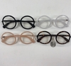 LARGE ROUND PLASTIC FRMAES WITH CLEAR LENS