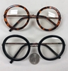 MEDIUM ROUND CLEAR LENS GLASSES