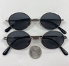 OVAL SHAPE SILVER METAL FRAMES SPRING TEMPLE QUALITY DARK LENS