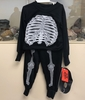 TODDLER GLOW IN THE DARK SKULL COSTUME