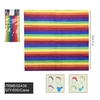 RAINBOW THIN STRIPES BANDANAS, 100% COTTON PACKAGE AND UPC