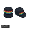 RAINBOW COLORS STRIPES, ON BASEBALL STYLE HAT