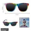RAINBOW CLASSIC SHAPE SUNGLASSES, DARK LENS