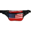 LEATHER FANNY PACK, NICE BRIGHT FLAG , MADE IN INDIA, .50 e.