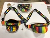 RAINBOW STYLE COTTON MADE IN NAPEL  3 ZIPPER FANNY PACK