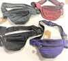 NAPEL MADE SOLID COLOR 100% COTTON FANNY PACKS, 3 ZIPPERS