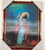 ASSORTED HOLOGRAPHIC RELIGIOUS IMAGE PICTURES IN FRAME