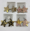 STAR SHAPE LITE WEIGHT EARRINGS  WITH GOLD HIGHLIGHTS
