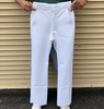 WHITE 100% POLYESTER NAVY OFFICER FLARE BOTTOM PANTS