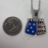 BOXER SHORTS NECKLACE IN PATRIOTIC COLORS