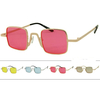 FUNKY, COLOR LENS RECTANGLE SHAPE LENS, METAL FRAMES SUNGLASSES