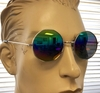 ROUND JOHN LENNON STYLE GLASSES WITH RAINBOW REVO LENS