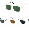 BEN FRANKLIN METAL FRAMES DARK LENS SPRING TEMPLE SUNGLASSES