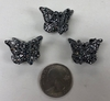 BLACK GLITTER BUTTTERFLY HAIR CLIPS