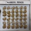 GOLD METAL WIRE RINGS IN ASSORTED SHAPES