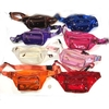 CLEAR  COLORFUL 3 ZIPPER FANNY PACKS, CAN ORDER BY COLOR