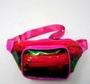 HOT PINK IRIDESCENT FANNY PACK, 3 ZIPPERS, NICE